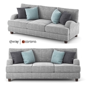 Rosalie gray fabric sofa