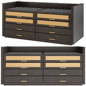 Tweed chest of drawers by Poliform
