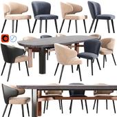 Minotti Aston Dining Chair Set