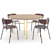 Herman Chair + Mingle Table Round by ferm LIVING