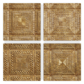 Brass Clad Square Wall Panel Collection