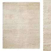 Dot Hand-Knotted Wool Shag Rug RH