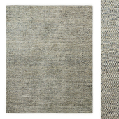 Floating Diamond Handwoven Wool Flatweave Rug RH