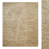 Tinsley Metallic Suede and Jute Handwoven Rug RH