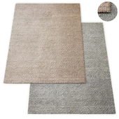 Honeycomb Handwoven Wool Flatweave Rug RH Collection