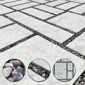 Title gravel pebble / Gravel Pebble Slabs