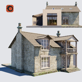 Old English cottage with a modern extension