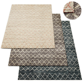 Escala Hand-Knotted Wool Shag Rug RH Collection