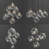 Collection of Glass Bole Lamps