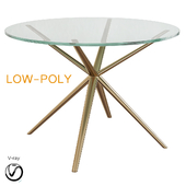 Holly Hunt Etoile Dining Table (low poly)