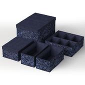 Набор коробок Икеа СТОРСТАББЕ Синие