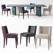 Meridiani Plinto table Y2W Kita chair