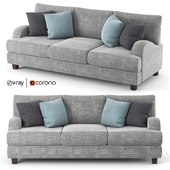 Rosalie gray fabric sofa