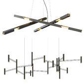 Minimalist Matt Black & Aries Lighting System Chandelier