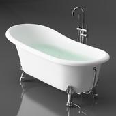 Акриловая ванна BelBagno BB04 + смеситель Gerhans