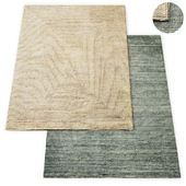 Ellipse Hand-Knotted Wool Rug RH Collection