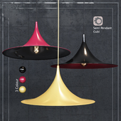 Pendant Lamp Semi Pendant By Bonderup & Thorup for Gubi Black / Red / Yellow