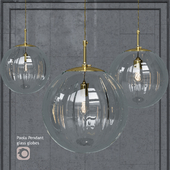 Pendant lamp Hector Finch Paola Gold Small Pendant Clear Glass