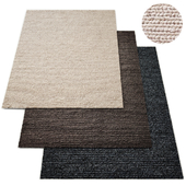 Hand-Braided Textured Wool Rug RH Collection