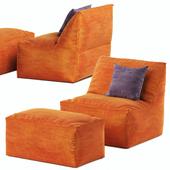 Кресло мешок с пуфом Pianca Eden