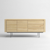 ETHNICRAFT Shadow oak sideboard 2 doors