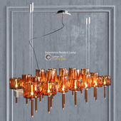 Chandelier AXO Light Spillray SP lamps 26 orange glass