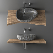 Stone countertop basin