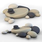 Напольные подушки камни кресла SMARIN 2