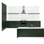 Green & Brass Kitchen