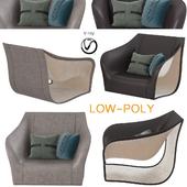 Split Chairs Alex Hull Split (low poly)