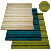 Alma Blue Fringe Indoor-Outdoor Rug Collection