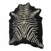 Zebra rug black 4