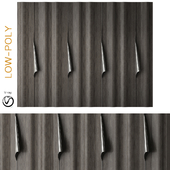 Wood metal wardrobe art deco (low poly)