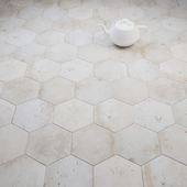 CIR Esagona White Rope (Ex Cotone) Tile Set