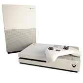 Game Console And Joystick Xbox Slim