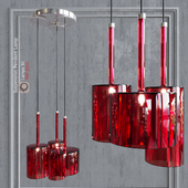 Pendant lamp AXO Light Spillray SP3 pendant lamp Red glass