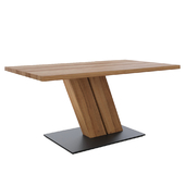 Table Capri oak with metal stand