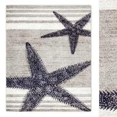 Thomas Paul Starfish Grey Area Rug