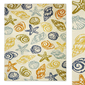 Seashells Multi Indoor Area Rug