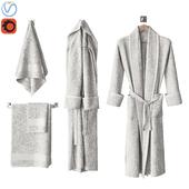 White bathrobe and towels