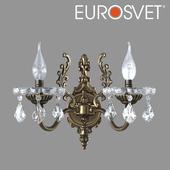 OM Sconce with crystal Eurosvet 3281/2 bronze Elisha