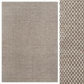 Wood Brown/Chiffon White Flat Weave Rug