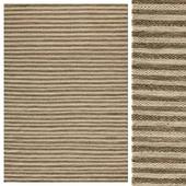 Brown/Ivory Flat Weave Rug