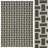 Pebble Grey/Cream Flat Weave Rug