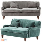 Channel Tufted Two-Cushion Sofa
