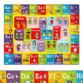 Multi-Color Kids ABC Alphabet Area Rug