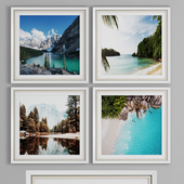 PHOTO FRAME SET 29 (4 FRAME WALL COLLECTION)