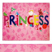 Princess Icons Multi-Colored Indoor Juvenile Area Rug