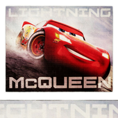 Lightning McQueen Multi-Colored Indoor Juvenile Area Rug