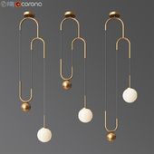 Cradle brass pulley pendant light